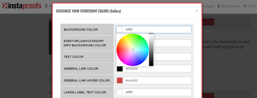 Customize the Colors